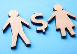 Marriage for money. Man and woman have money between them. Separation of property in case of divorce.
